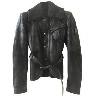 Belstaff Black Label Shearling Leather Jacket