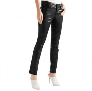 J Brand Maude leather slim-leg pants
