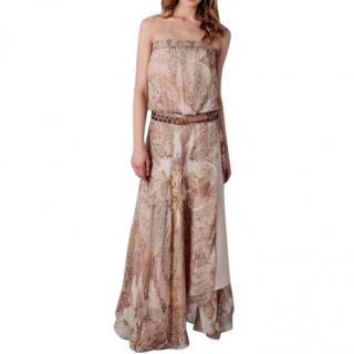 Haute Hippie Strapless Paisley Dress