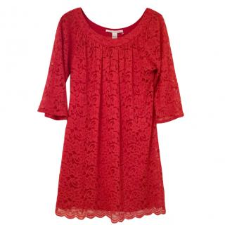 Diane Von Furstenberg Red Lace Dress (U.S.12)