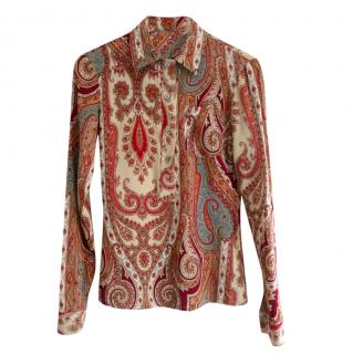 Margaret Howell Paisley Print Blouse