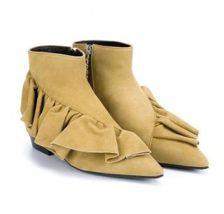 J.W.Anderson Desert Ruffle Ankle Booties
