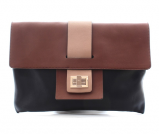 Anya Hindmarch Leather Colourblock Clutch