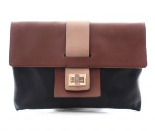 Anya Hindmarch Leather Colourblock Clutch