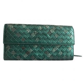 Bottega Veneta Emerald Green Intrecciato Leather Wallet