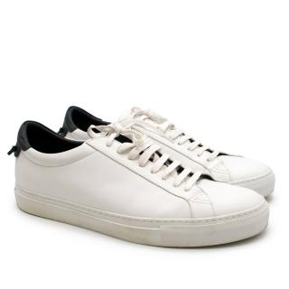 Givenchy White Leather Urban Street Low Top Sneakers
