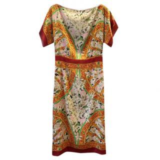 Dolce & Gabbana Silk Floral Baroque Print Dress