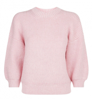 3.1 Phillip Lim Pink Wool/Mohair Blend Puff Sleeve Jumper