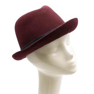 Christy's London Burgundy Felt Trilby Hat