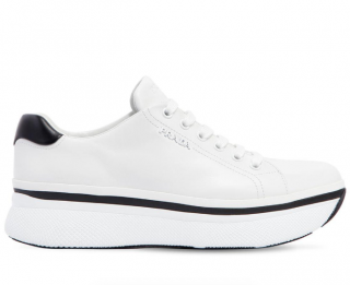 Prada Leather Platform Sneakers