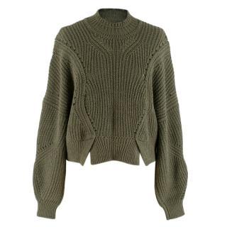 Isabel Marant cropped khaki sweater