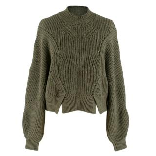 Isabel Marant cropped khaki sweater