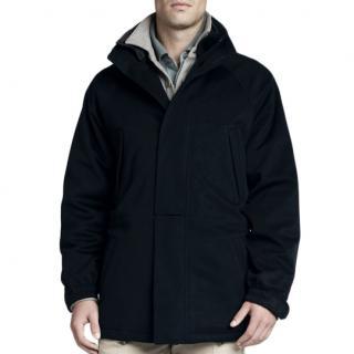 Loro Piana Navy Cashmere Icer Ski Jacket with Storm System