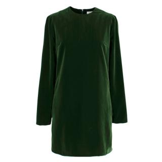 Racil Ara Green Velvet Dress