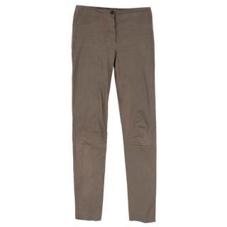 DROMe brown leather pants