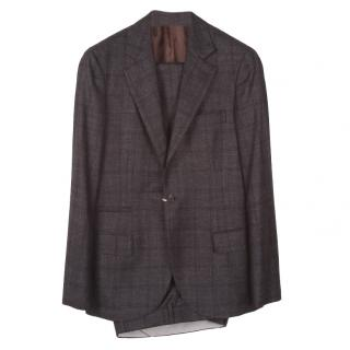 Brunello Cucinelli Charcoal Check Suit