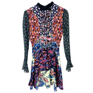 Mary Katrantzou silk printed mini dress