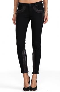 Mother The Looker Inside Zip Jeans
