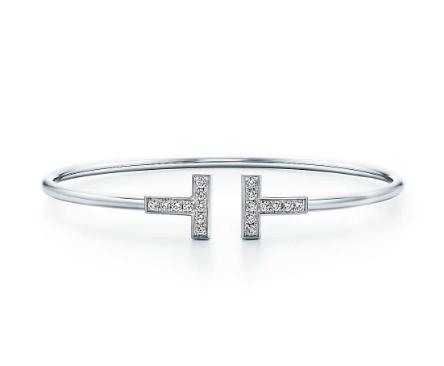 Tiffany & Co. White Gold Tiffany T Diamond Wire Bracelet