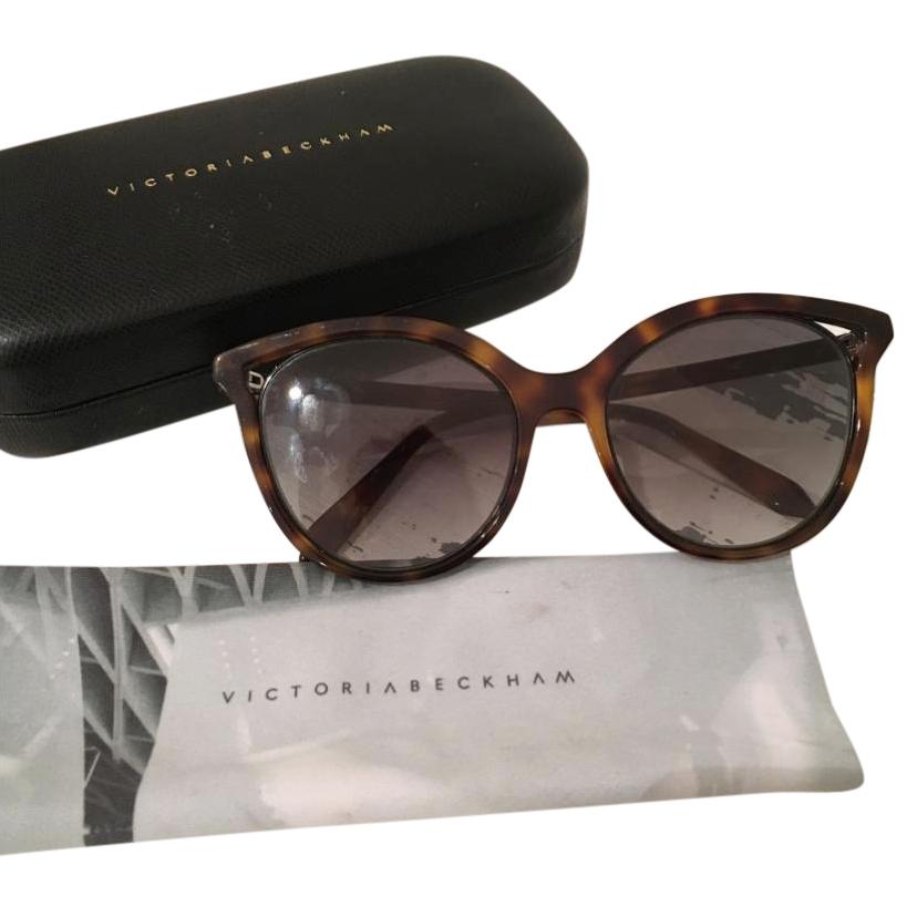 Victoria Beckham Cut Away Tortoiseshell Sunglasses