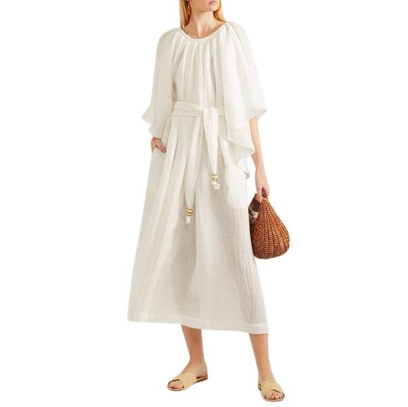 Lisa Marie Fernandez Linen Midi Dress