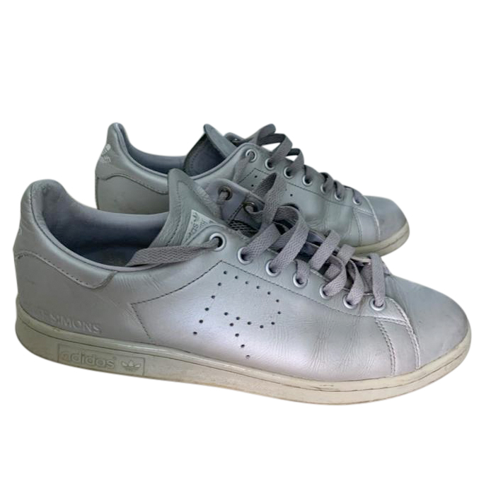 Adidas x Raf Simons Silver Stan Smith Sneakers