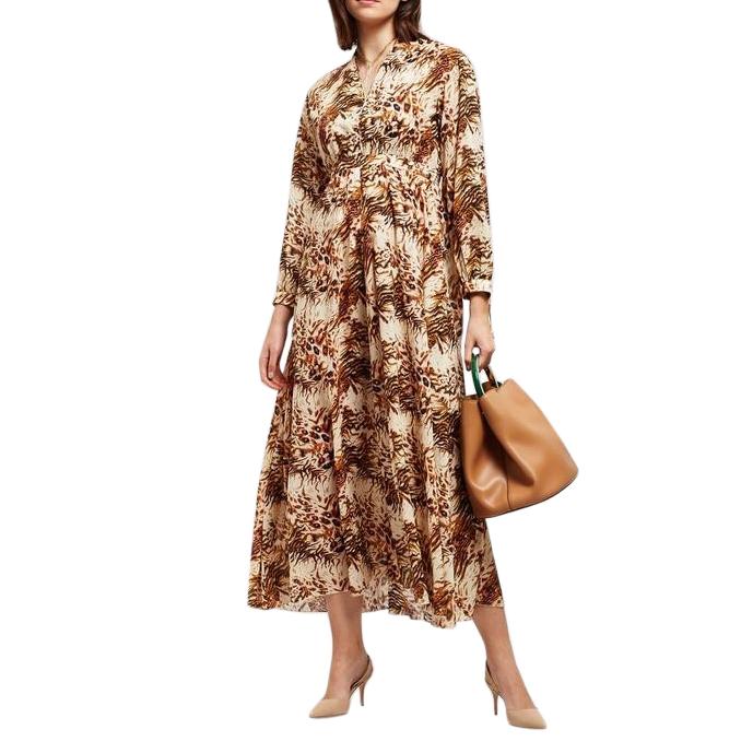 Nanushka Hazel animal print maxi dress