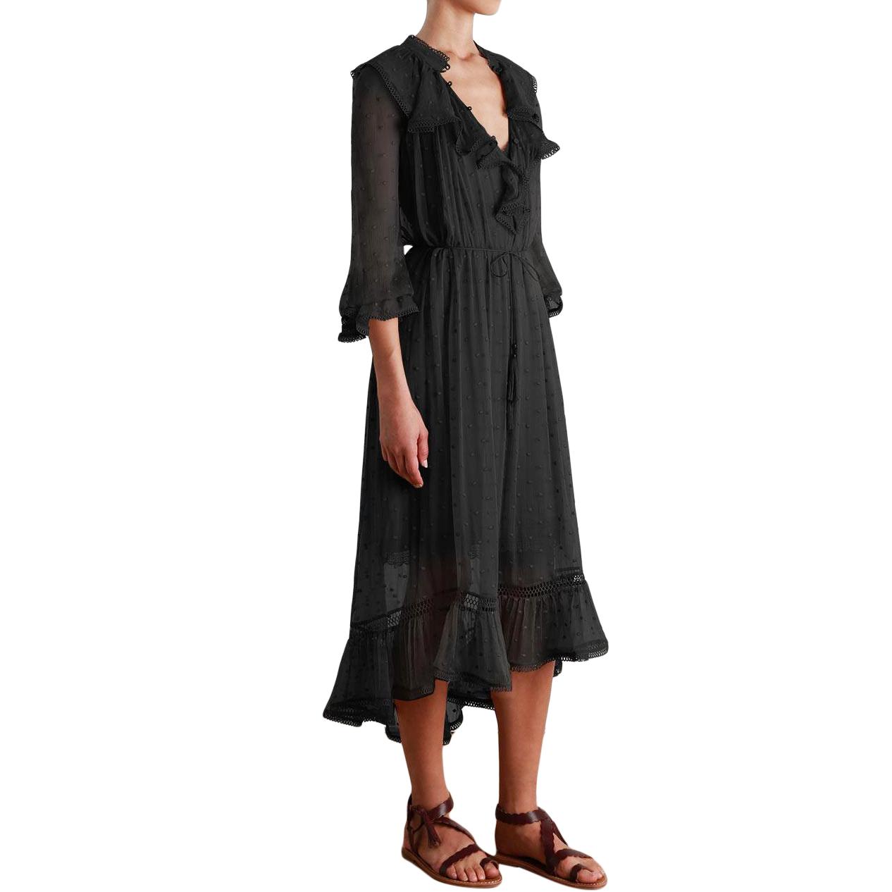 Zimmermann Tulsi Dot Frill Dress