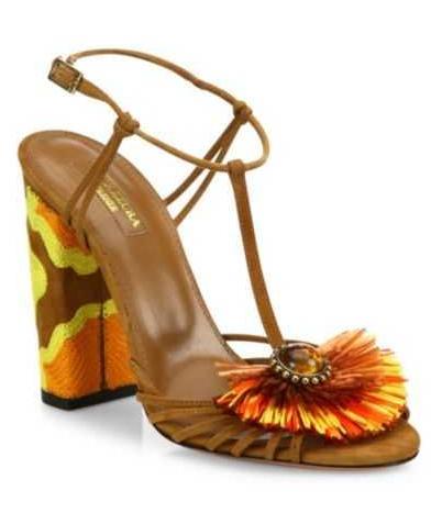 Aquazzura Samba Embellished Block Heel