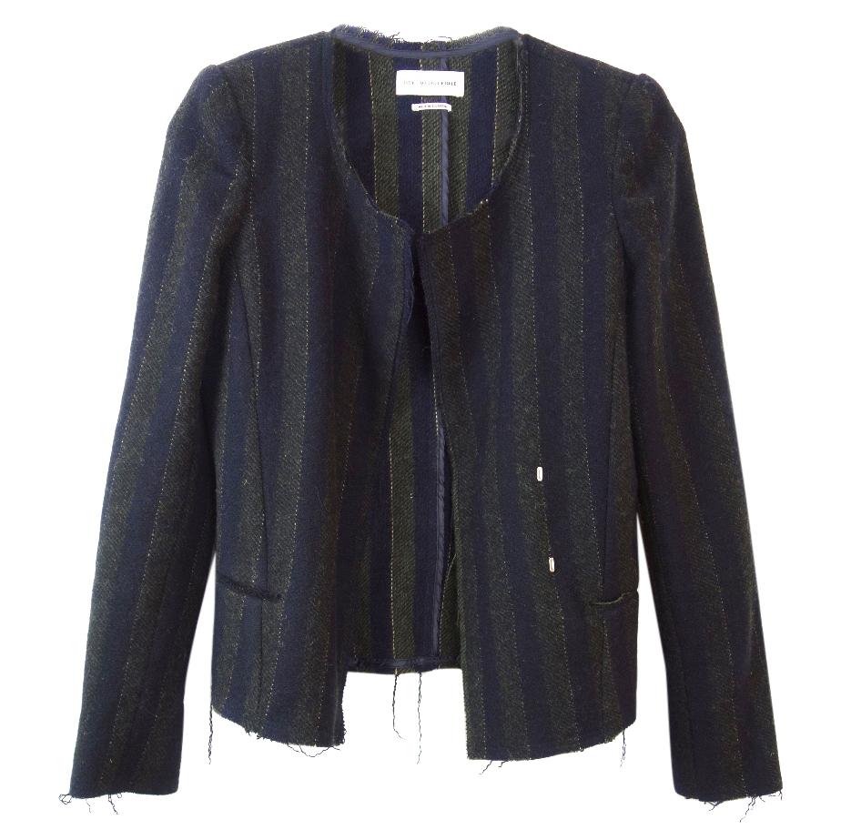 Isabel Marant Striped Distressed Jacket