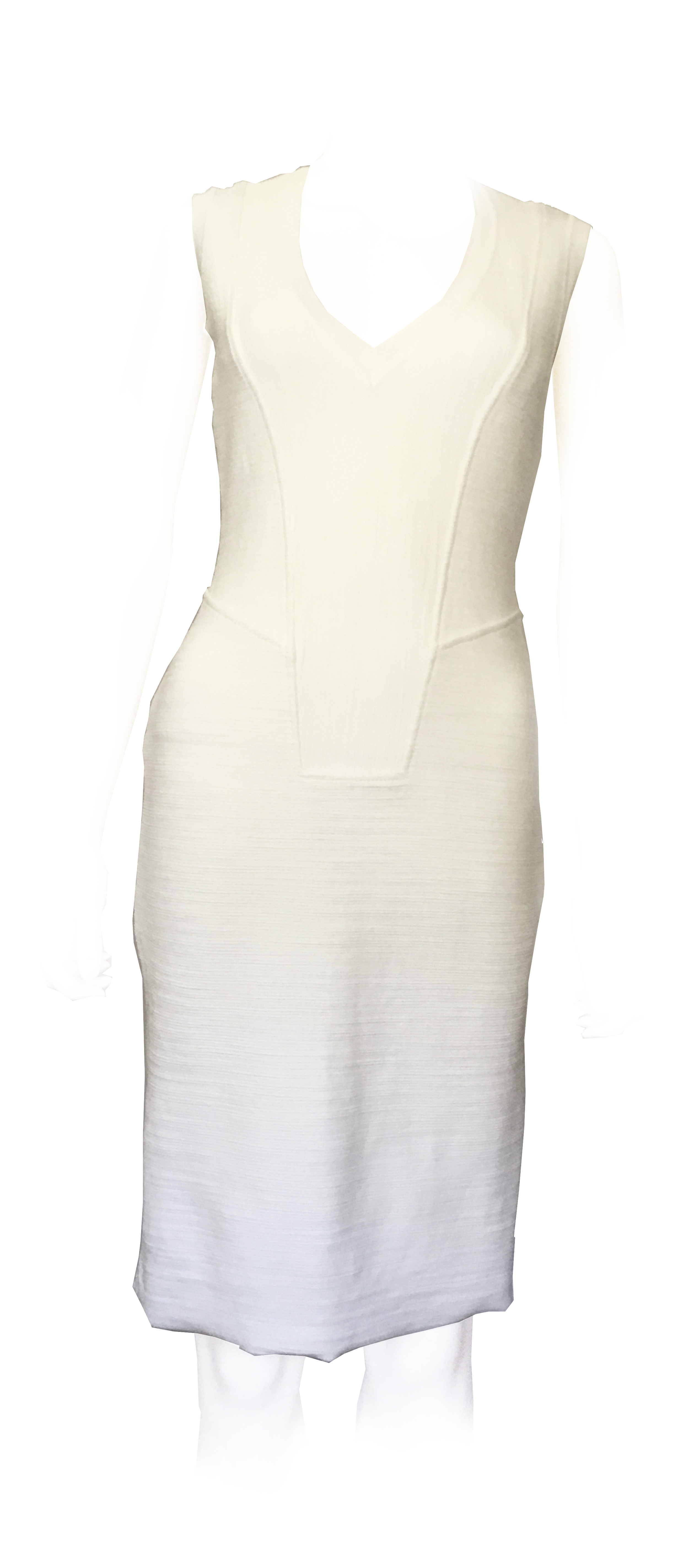 Givenchy White Sleeveless Fitted Dress