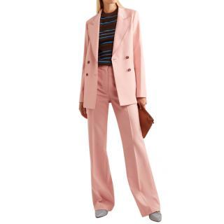 Gabriela Hearst Angela double-breasted wool & silk-blend suit set