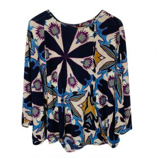 Missoni cashmere & silk blend printed top