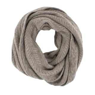 James Perse Cable Knit Infinity Scarf In Stone