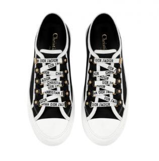 Dior Walk'n'Dior low-top Sneaker in black canvas