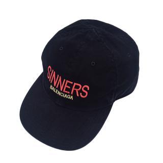 Balenciaga black Sinners baseball cap