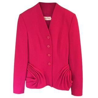 Christian Dior fuscia pink wool jacket