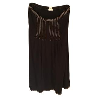 Hermes Black Pleated Skirt