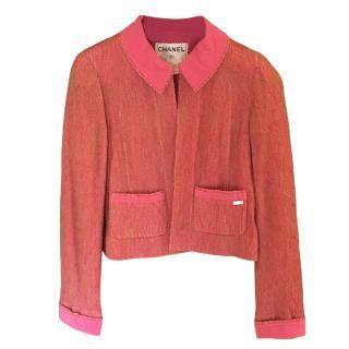 Chanel Pink Mohair & Silk Blend Jacket