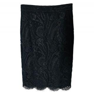 Emilio Pucci Black Lace Skirt