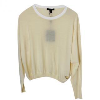Louis Vuitton Cream Wool Blend Sweater