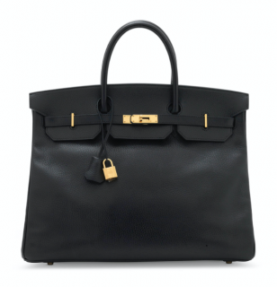 Hermes Ardennes Leather Black 40cm Birkin