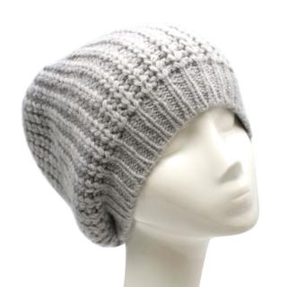 The Elder Statesman Light Grey Knit Beanie