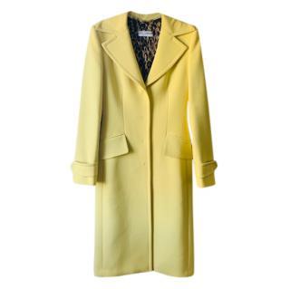 Dolce & Gabbana Yellow Tailored Coat