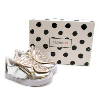 Sophie Webster Silver Bibi Low Top Mini Trainers