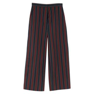 Rosetta Getty Striped Wide Leg Trousers