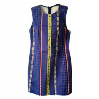Versace Purple Printed Mini Dress