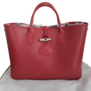 Longchamp Roseau bag in Rose Pink