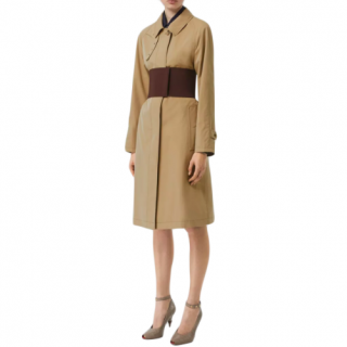 Burberry Corseted Beige Classic Car Coat