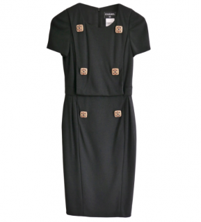 Chanel Paris/Shanghai Wool Jersey Midi Dress